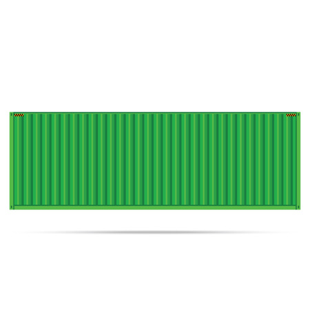 vector popular cargo green container shipping freight isolated texture pattern background Illustration