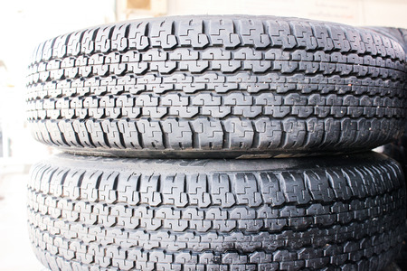 skidding: tire auto car with texture pattern and steel great plate wheel