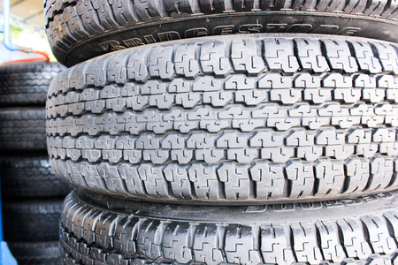 texture pattern of car tire photo