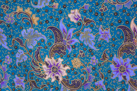 batik sarong  pattern background in Thailand, traditional batik sarong in Asian Stok Fotoğraf - 27379306