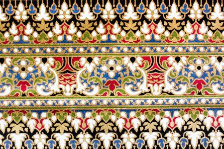 popular batik sarong pattern background in Thailand, traditional batik sarong in Asian photo
