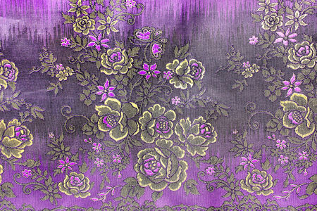 popular batik sarong pattern background in Thailand, traditional batik sarong in Asian photo