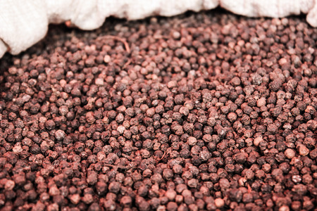 Black peppercorn  for cooking background photo