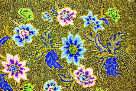 batik sarong  pattern background in Thailand, traditional batik sarong in Asian photo