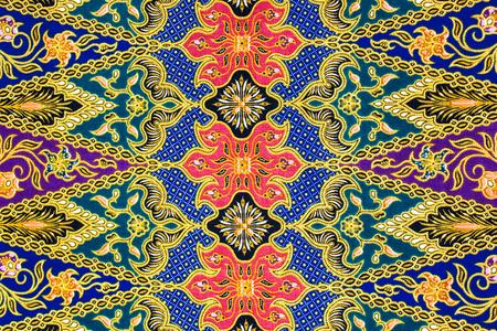 batik sarong  pattern background in Thailand, traditional batik sarong in Asian Banque d'images
