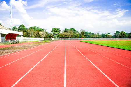 empty stadium arena and race running track treadmill background photo