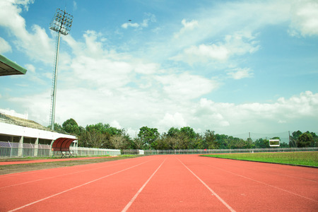 empty stadium arena and race running track treadmill background