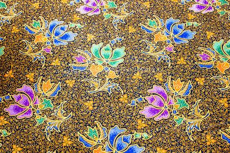 popular batik sarong pattern in Thailand, traditional batik sarong in Asian photo
