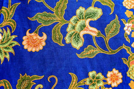 popular batik sarong pattern background in Thailand, traditional batik sarong in Asian