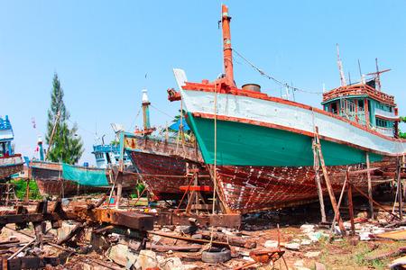 fisheries: old fisheries shipyard in Thasala Nakhon Si Thammarat
