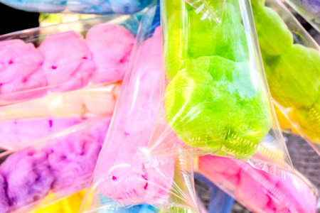 popular colorful sweet cotton candy photo