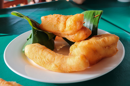 patongkoh: deep-fried dough stick, patongko is chinese dessert with egg custard