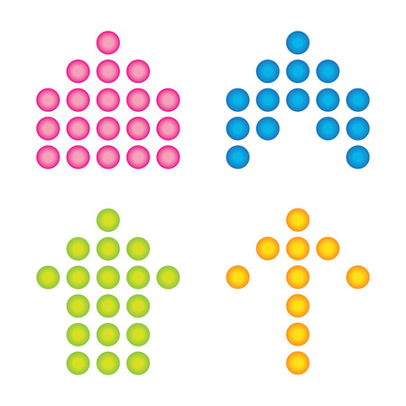 beautiful popular arrow sign symbol icon set circle internet web design button Vector