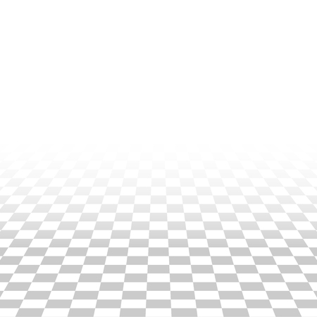 abstract square tile perspective white and gray texture background same transparency grid Illustration