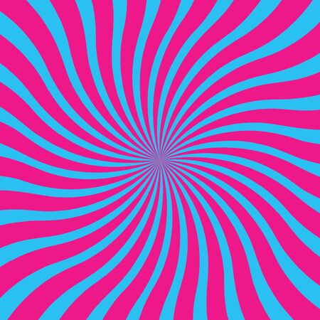 popular blue and pink twist rotate ray background vector Vector