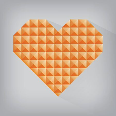 orange retro heart triangle abstract love valentine day jewel texture seamless background Vector