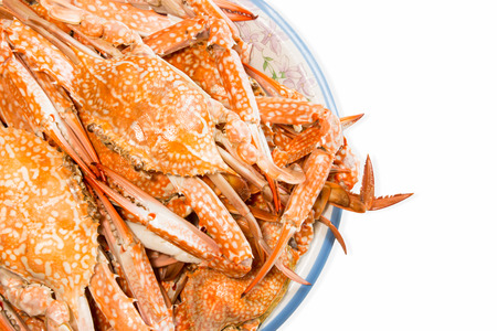 steamed crab boiled seafood photo