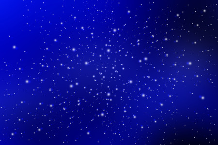 night sky with white stars background Stock Photo