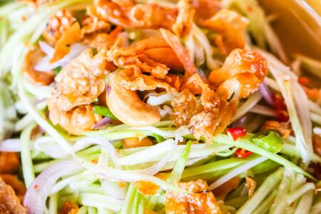 tangy: hot spicy and tangy salad with cashew nuts Stock Photo