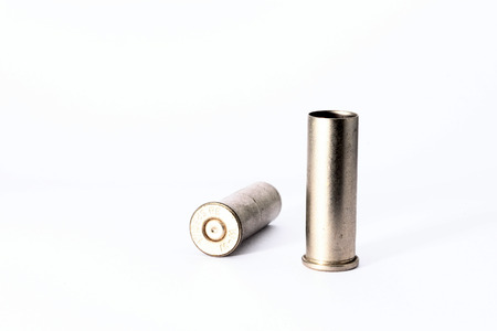 casings: .38 special shell casings isolated on white background