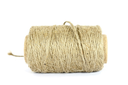 natural rope: ramie natural rope isolated on the white background Stock Photo