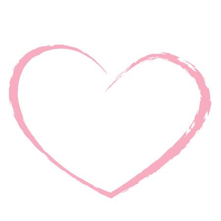 roze hart liefde tekening valentine