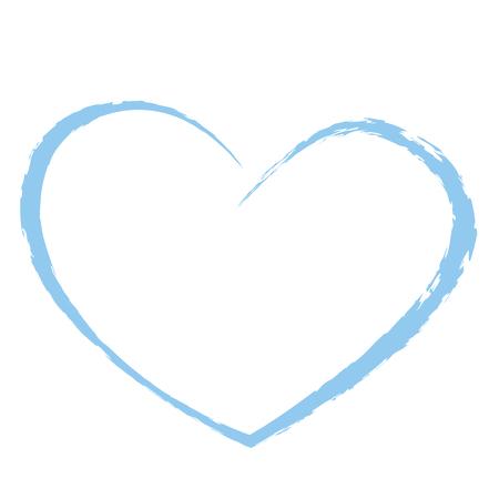 blaues Herz Zeichnung Liebe valentin