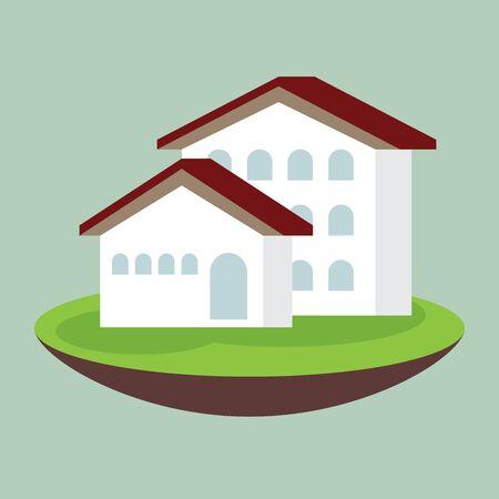 grass plot: icon dream luxury house, business concept
