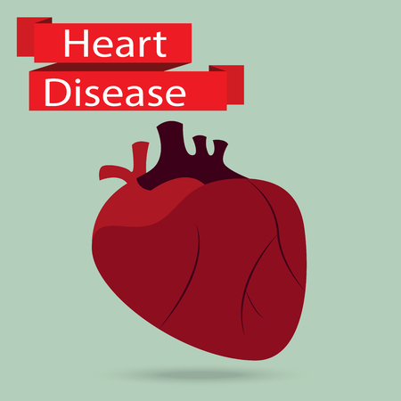 heart disease: health problem with heart disease isolated background