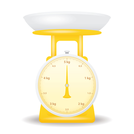 color scale: yellow color weight scale market isolate on white background Illustration