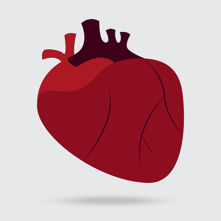 heart white: health problem with heart disease isolated background