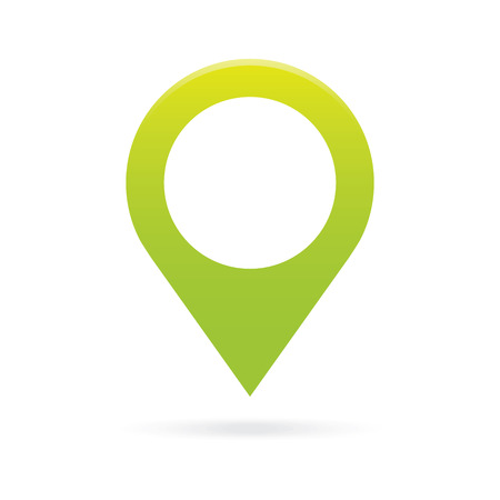 markers: green map pointer icon marker GPS location flag symbol