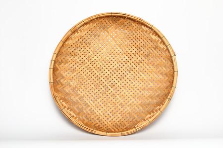 threshing: threshing basket made from bamboo Stock Photo