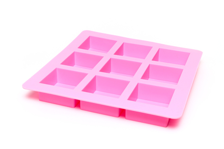 silicone: silicone mold for soap isolated on white background