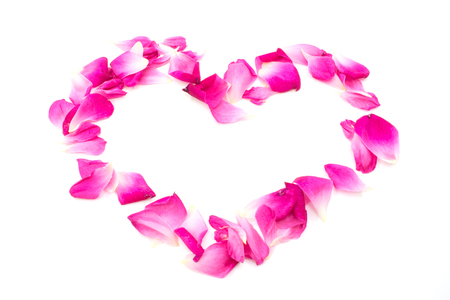 valentine border: rose heart  love valentine border isolated on white background