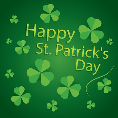 17 march: happy saint patricks day 17 march shamrock leaves pattern background