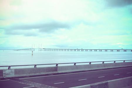 penang: vintage penang bridge