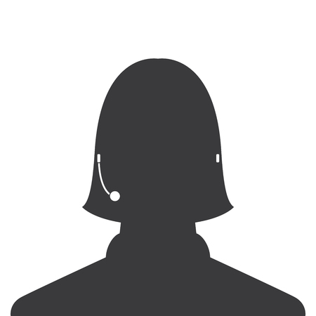 avatar head profile silhouette call center female picture