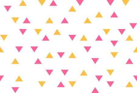 pink yellow colorful abstract triangles retro paper pattern geometric mosaic party background 向量圖像