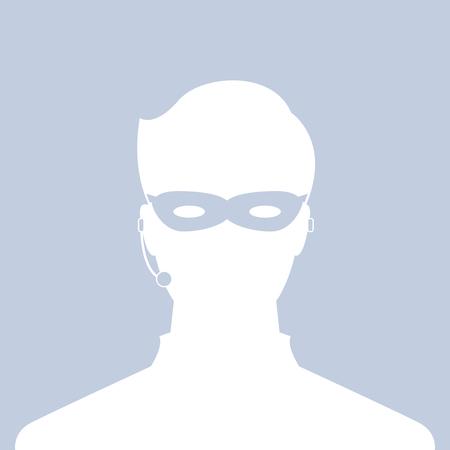 avatar head profile silhouette call center thief mask male  picture