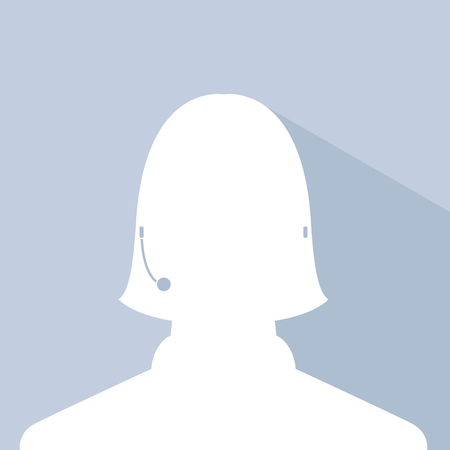 avatar head profile silhouette with shadow  call center female picture