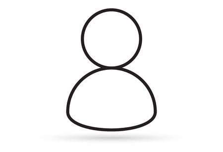 male profile picture, silhouette profile avatar icon symbol