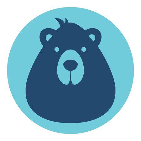 bear male logo silhouette head profile picture avatar user