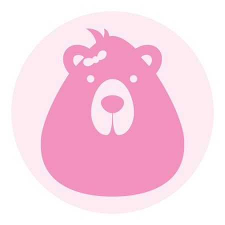 bear female logo silhouette head profile picture avatar user 向量圖像