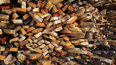 stack of firewood, used wood