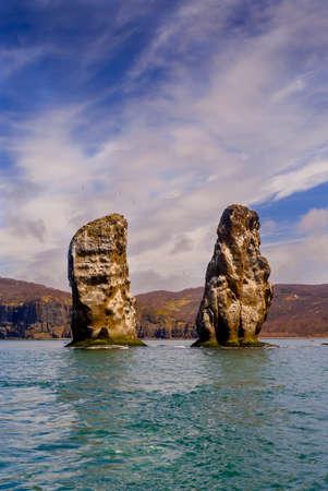 Rocks in Avacha bay Imagens