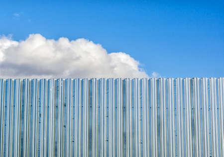 Corrugated aluminium fence