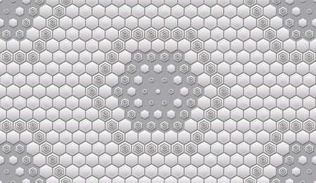 paper punch: Seamless abstract tile background - hexagons. The color of the metal midtone. Vector illustration EPS8.