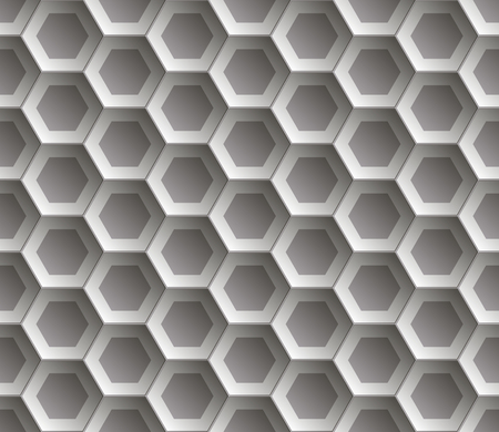 Seamless abstract honeycomb  background - hexagons. Color gray with shadows. Vector illustration EPS8. Illustration