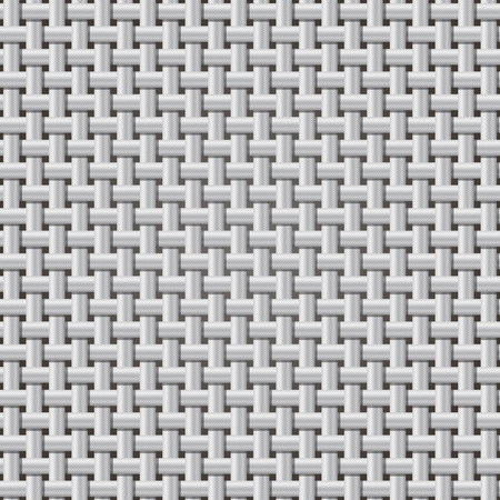 ribbed: Seamless background  weaving ribbed metal wire. The color of silver. Vector EPS10.